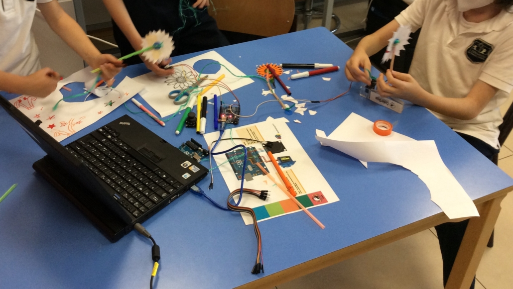 Students are learning how to build and use robots.