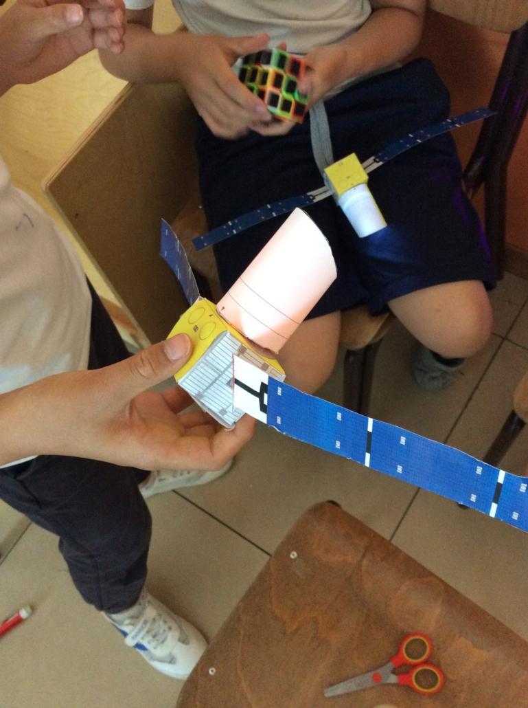 Students are building models of rockets
